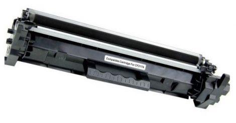 HP CF217A (17A) black-fekete prémium utángyártott toner, 1600 oldal (laserjet pro m102 / m130 MFP) chipes
