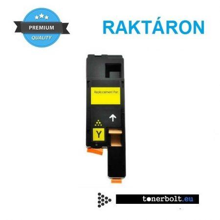 Xerox 6020, 6022, 6025, 6027 Zafír utángyártott prémium toner - YELLOW, sárga  - 106R02762
