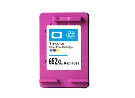 HP 652XL / F6V24AE XL 3x-os kapacitású  színes-color prémium utángyártott tintapatron, patron- hewlett packard