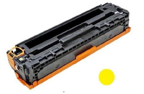 HP CB542A (y, sárga) utángyártott prémium kategóriájú toner / HP CP1215, CP1518, CM1312/