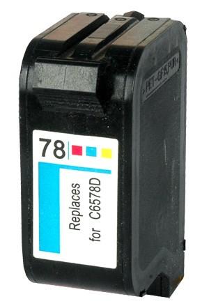 HP 78 / C6578A XL kapacitású színes-color prémium utángyártott tintapatron, patron- hewlett packard