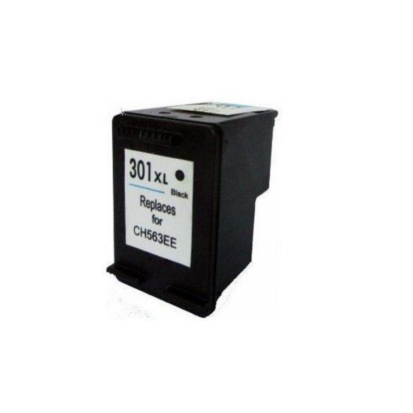 HP 301 XL bk (CH563E) fekete  prémium utángyártott tintapatron, patron, 600 oldal, 18ml