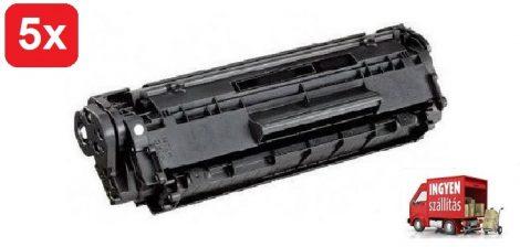 5db# HP Q2612A/12A (Laserjet 1010,1018,1020,3050) utángyártott toner csomag #5db + ingyenes kiszállítással.