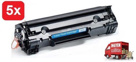 5db# HP CF283A/83A (LaserJet Pro m125,m127,mfp125) utángyártott toner csomag #5db + ingyenes kiszállítással.
