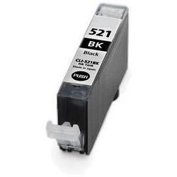 CANON CLI-521 Bk. (fekete) prémium kategóriájú utángyártott tintapatron Chipes, patron