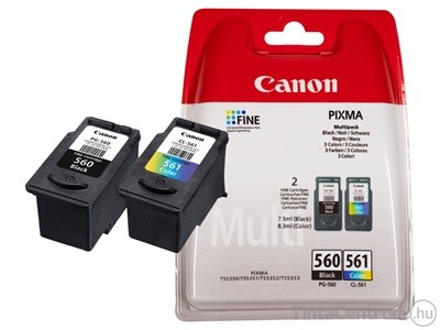 Canon PG-560,CL-561 eredeti patron csomag (fekete, színes)