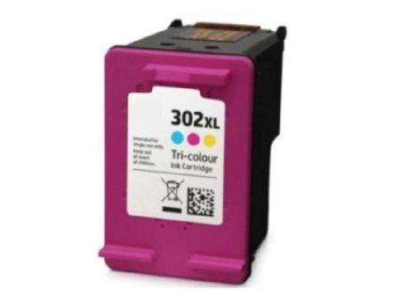 HP 302XL / F6U67AE XL 2x-es kapacitású  színes-color prémium utángyártott tintapatron, patron- hewlett packard